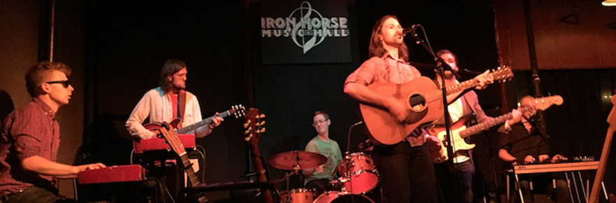 Justin Hillman at the Iron Horse Music Hall in Northampton, Mass.